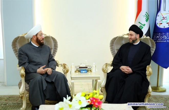Sayyid Ammar al-Hakim with the Grand Mufti Syria to discuss fighting extremism and spreading of peace