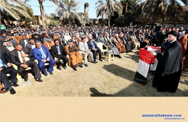 السيد عمار الحكيم يحذر من العودة للمربعات الاولى ما لم ينجح العراق في تحدي بناء الدولة والمؤسسات