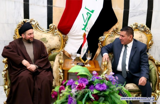 Sayyid Ammar al-Hakim meets the Governor of Muthanna province, Falih al-Ziyadi to discuss status of service in the province