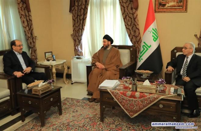 السيد عمار الحكيم يلتقي نائب رئيس الجمهورية الاستاذ نوري والمالكي
