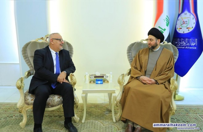 Sayyid Ammar al-Hakim receives delegation of the Assyrian National Party to discuss upcoming elections