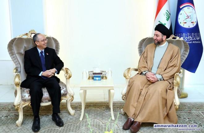 السيد عمار الحكيم يستقبل سفير اندونيسيا في العراق انتاريسكو