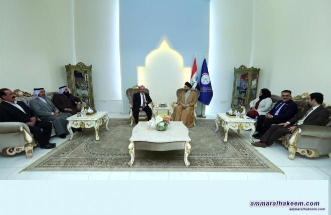 السيد عمار الحكيم يستقبل وفد الحركة الايزدية من اجل الإصلاح ضم شيوخ ووجهاء الطائفة الايزيدية في سنجار