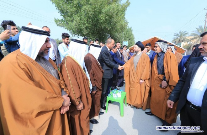 Sayyid Ammar al-Hakim visits Karbala province and meets elders and tribal figures of Shamar and Bani Hassan tribes