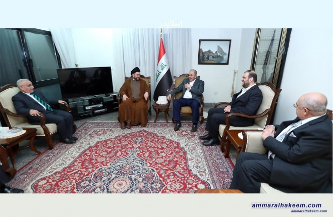 Sayyid Ammar al-Hakim meets Dr. Iyad Allawi to discuss latest developments in the political situation and the upcoming elections
