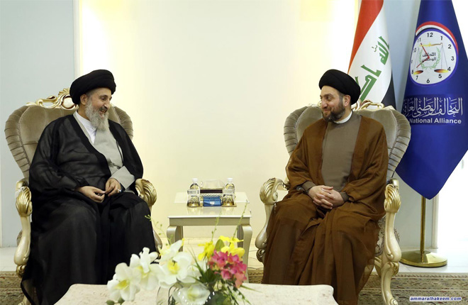 Sayyid Ammar al-Hakim receives a number Iraqi and Islamic channels' directors and stresses to broadcast national discourse