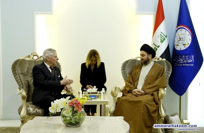 Sayyid Ammar al-Hakim receives European Institute of Peace delegation to discuss consolidating democracy in Iraq