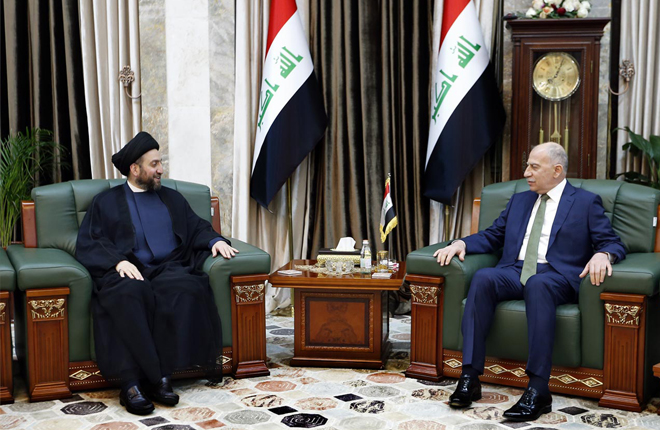 Sayyid Ammar al-Hakim meets Nujaifi to discuss the latest political situation and the upcoming elections