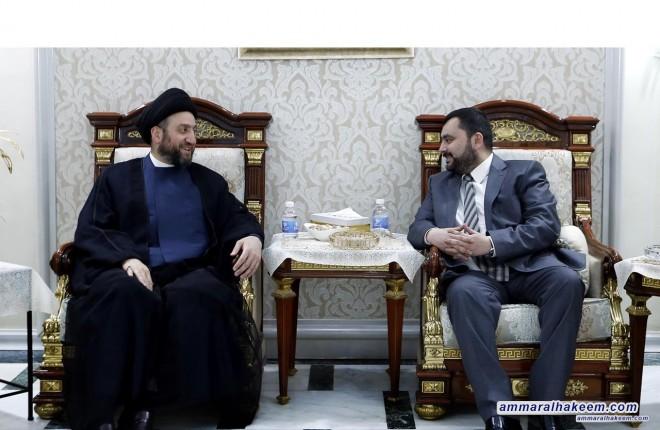 Sayyid Ammar al-Hakim meets Minister of Agriculture Falah Al-Zaidan