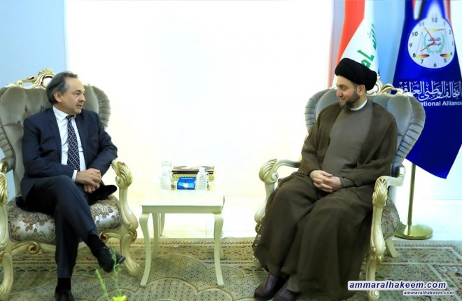 Sayyid Ammar Al-Hakim receives Prof. Gilles Kepel to discuss mechanisms of denouncing violence and combating extremism