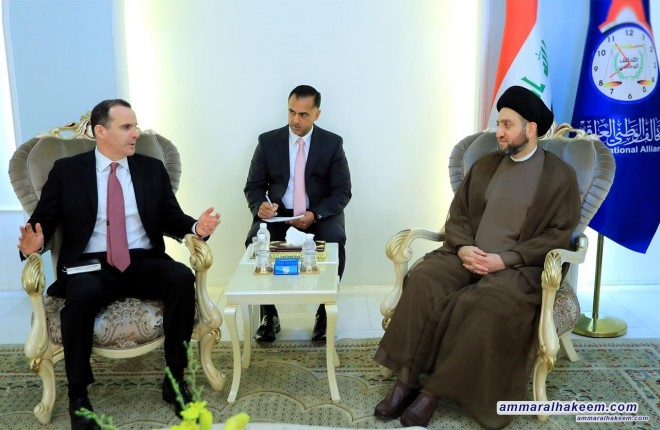 Sayyid Ammar al-Hakim to McGurk.. The next phase requires a clear project that produce a government of service on basis of national majority and within the constitutional schedule