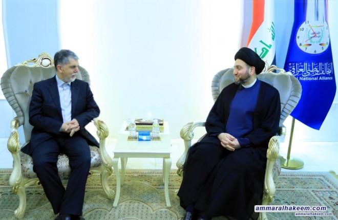 السيد عمار الحكيم يستقبل وزير الثقافة والإرشاد الإيراني عباس صالحي ويبحث معه العلاقات الثنائية بين البلدين