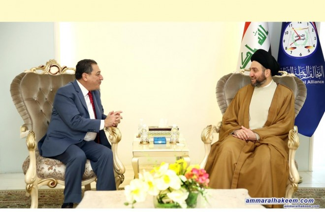 Sayyid Ammar Al-Hakim receives the CEO of the Centre for Defending Freedom of Journalists of Jordan