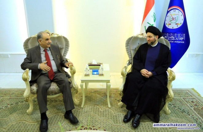 Sayyid Ammar al-Hakim receives head of the Dialogue Front Saleh al-Mutlaq