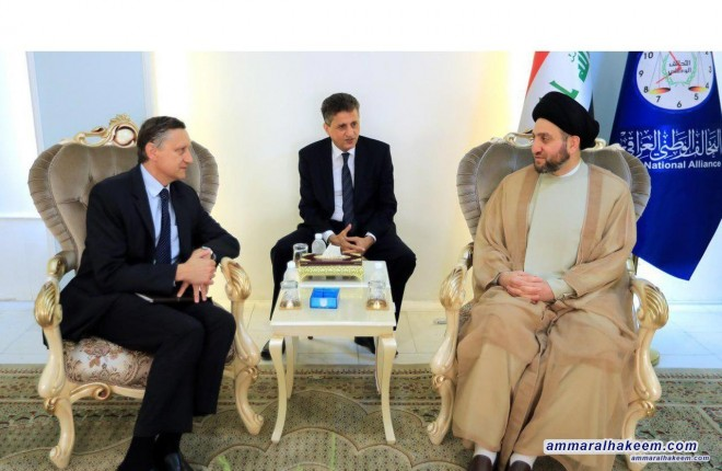 Sayyid Ammar al-Hakim receives German ambassador to discuss bilateral relations between the Iraq and Germany