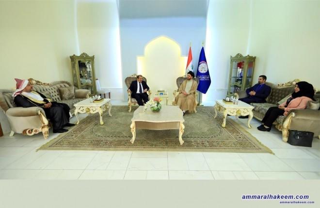 Sayyid Ammar al-Hakim receives a Yazidi delegation