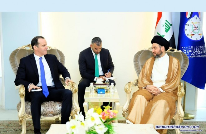 Sayyid Ammar al-Hakim with Brett McGurk to discuss elections results and the national mobility to form the government