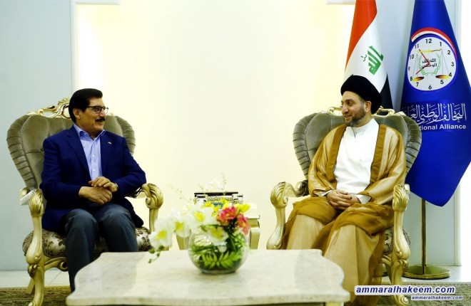 Sayyid Ammar al-Hakim with delegation of Kurdistan Democratic Party to discuss alliances and forming the government