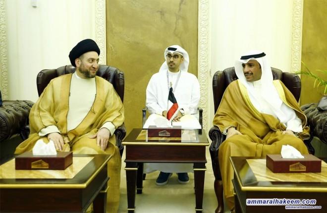 السيد عمار الحكيم يلتقي الشيخ مرزوق الغانم رئيس مجلس الامة الكويتي