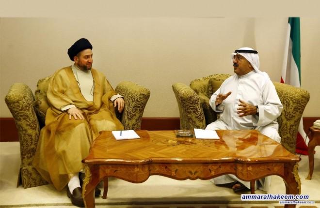 السيد عمار الحكيم يلتقي وزير الدفاع الكويتي الشيخ ناصر الاحمد الجابر الصباح