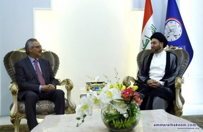 السيد عمار الحكيم يستقبل وفد الاتحاد الوطني الكردستاني برئاسة الملا بختيار