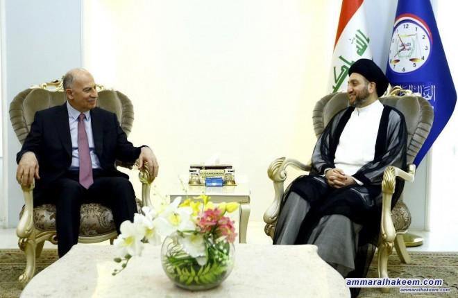 السيد عمار الحكيم يستقبل اسامة النجيفي ويبحث معه ملف الحكومة القادمة والتحالفات المطلوبة