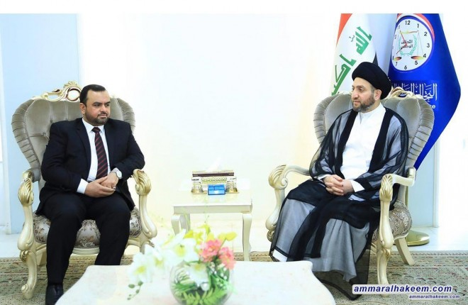 Sayyid Ammar al-Hakim receives delegation of the Islamic Virtue Party to discuss forming the government and the biggest bloc
