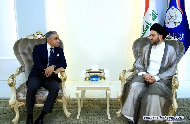 Sayyid Ammar Al-Hakim receives Egyptian Ambassador to discuss bilateral relations and means of developing them