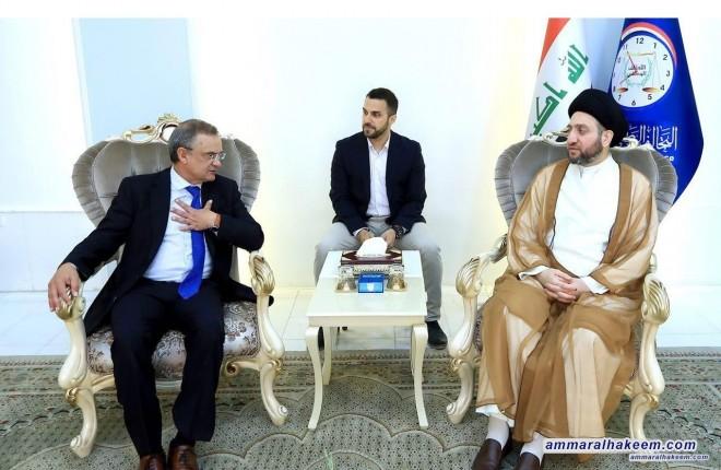 السيد عمار الحكيم يستقبل السفير الاسباني ويبحث معه العلاقات الثنائية بين العراق واسبانيا