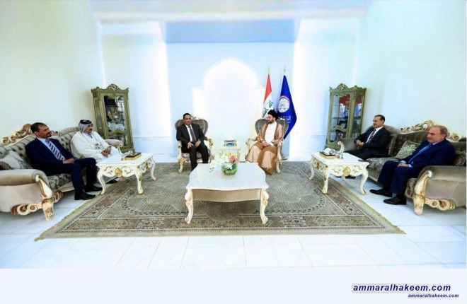 Sayyid Ammar al-Hakim receives Dr. Haitham al-Jubouri, chairman of the Competencies Assembly to discuss the future government