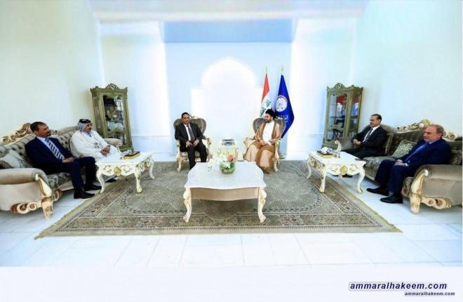 السيد عمار الحكيم يستقبل الدكتور هيثم الجبوري رئيس تجمع كفاءات ويبحث معه ملف الحكومة القادمة