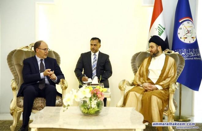 السيد عمار الحكيم يستقبل السفير الاميركي ويبحث معه مستجدات الوضع السياسي والانتخابي
