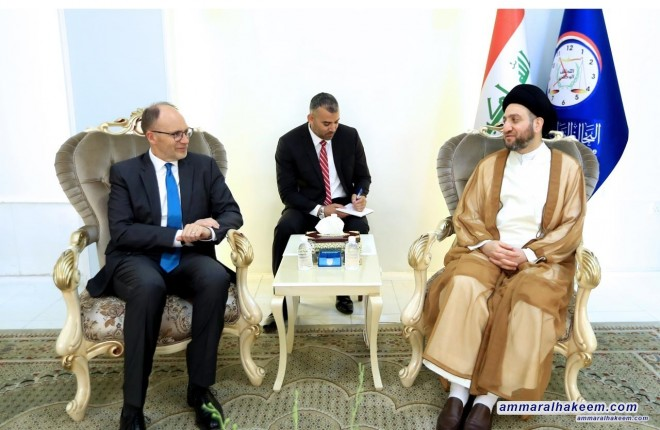 Sayyid Ammar al-Hakim receives the US ambassador to discuss bilateral relations and developments in the political scene