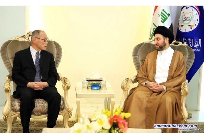 Sayyid Ammar al-Hakim commends Ambassador Fumio Iwai role in promoting relations between Iraq and Japan