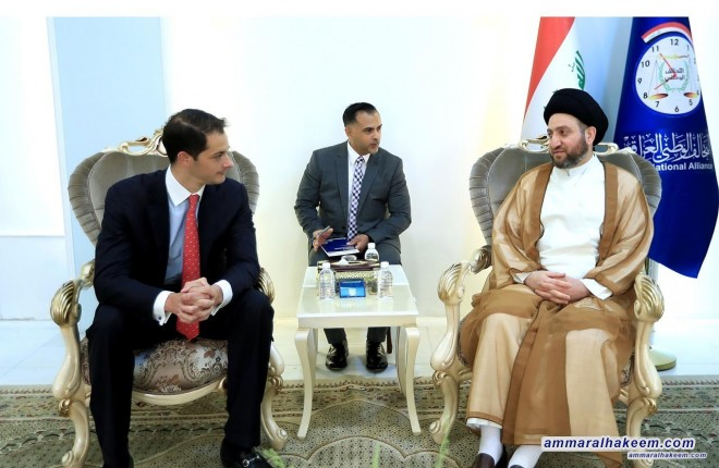 Sayyid Ammar al-Hakim meets Assistant Undersecretary of the US Secretary of State to discussel the political scene and bilateral relations