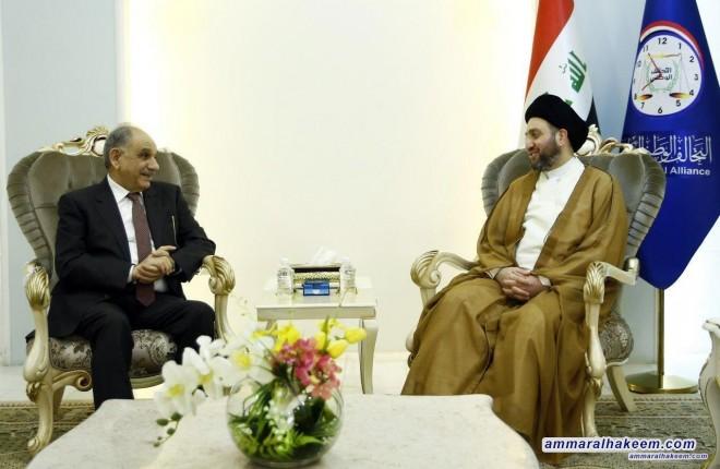 السيد عمار الحكيم يستقبل الدكتور صالح المطلك ويبحث معه تطورات المشهد السياسي