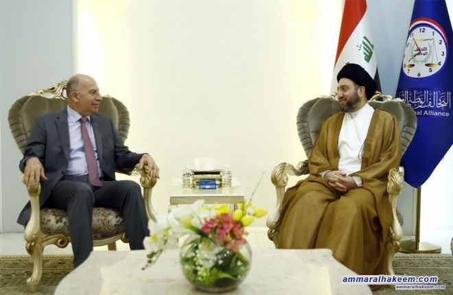 Sayyid Ammar al-Hakim receives Vice-President, a leader of Al-Qarar Alliance Osama al-Nujaifi