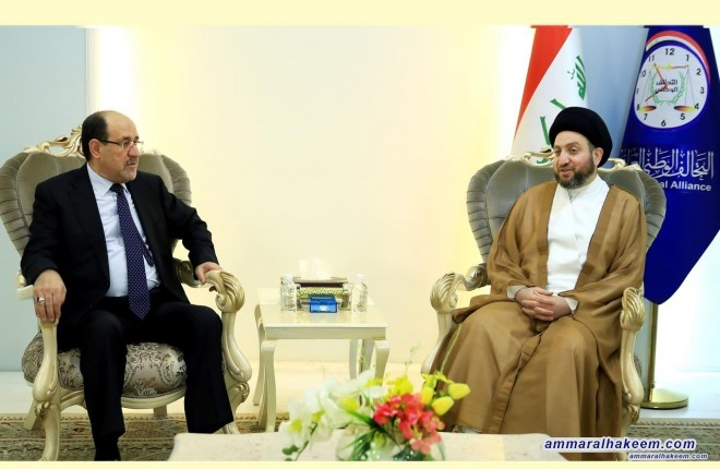Meeting with Maliki .. Sayyid Ammar al-Hakim stresses the need to reactivate economy by serious measures and provision of employment opportunities