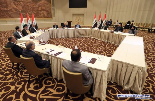 Sayyid Ammar al-Hakim participates in the major bloc core meeting and emphasizes to hold the corrupt accountable and refusing quotas