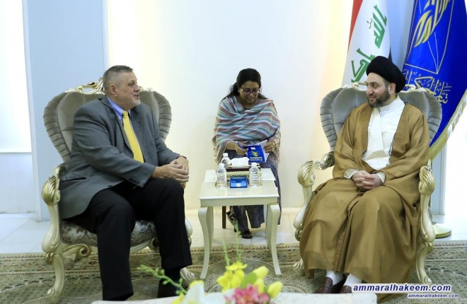 Sayyid Ammar al-Hakim receives the representative of UN Secretary-General Jan Kubis to discuss the future government and the largest bloc