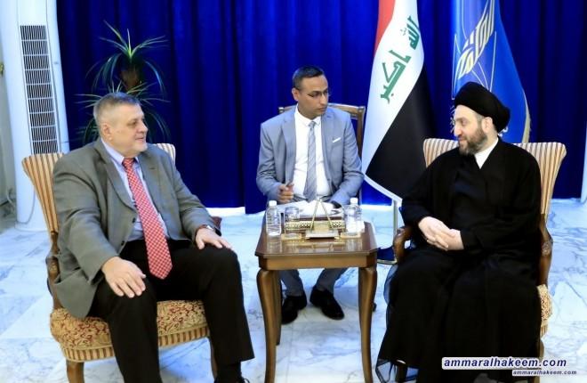 السيد عمار الحكيم يستقبل ممثل الامين العام للامم المتحدة يان كوبيتش ويبحث معه تطورات المشهد السياسي في العراق