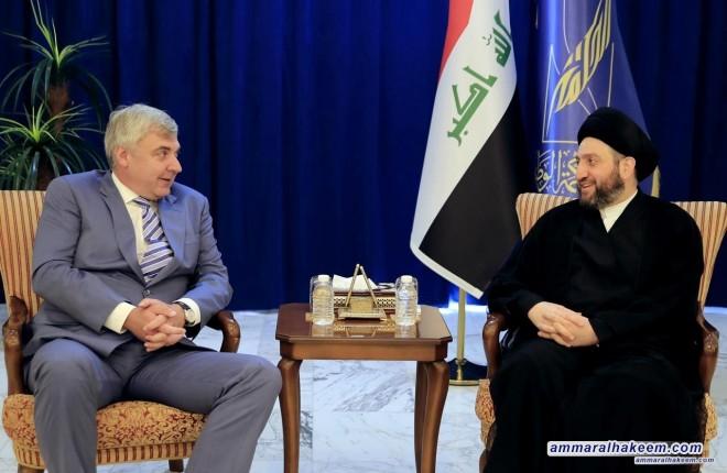 السيد عمار الحكيم يبحث مع السفير الروسي تطورات المشهد السياسي في العراق والمنطقة
