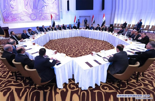 Sayyid Ammar al-Hakim participates in the Leadership Body of Reform and Reconstruction Alliance to discuss latest political situation forming the government
