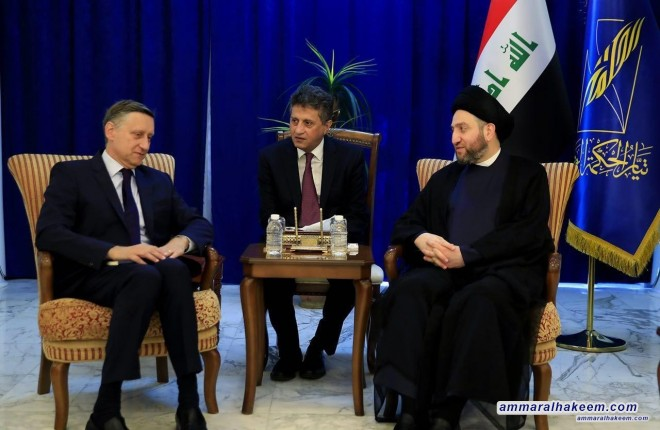 Sayyid Ammar Al-Hakim receives German Ambassador to Iraq Cyril Nan to discuss bilateral relations
