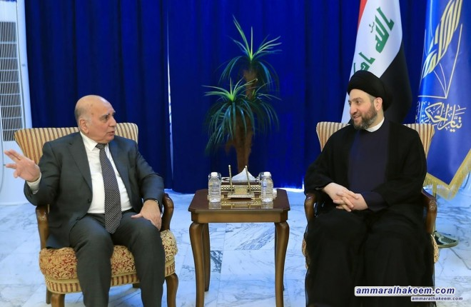 Sayyid Ammar al-Hakim receives the Kurdistan Democratic delegation of Party headed by Dr. Fuad Hussein
