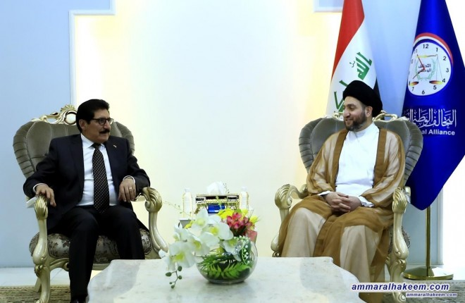Sayyid Ammar al-Hakim receives Kurdish delegation to discuss the largest bloc