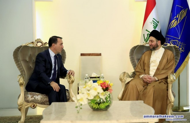 Sayyid Ammar al-Hakim receives Turkish ambassador to discuss bilateral relations of Iraq and Turkey