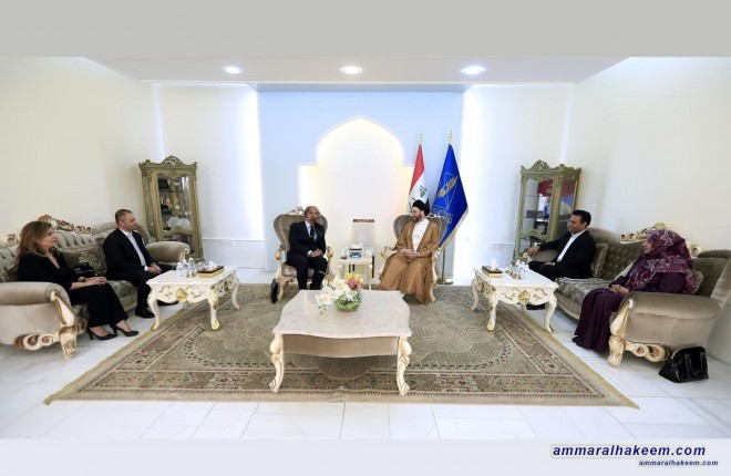 السيد عمار الحكيم يستقبل المدير الاقليمي لهيأة الامم المتحدة للمرأة محمد الناصري