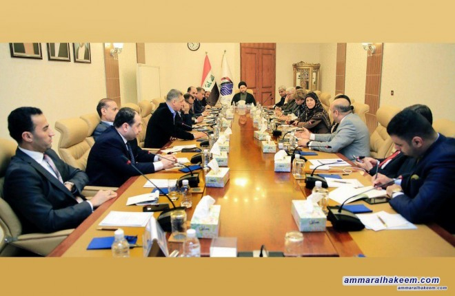 Sayyid Ammar al-Hakim presides meeting of political authority of the Reform and Reconstruction Alliance to discuss developments in the political situation