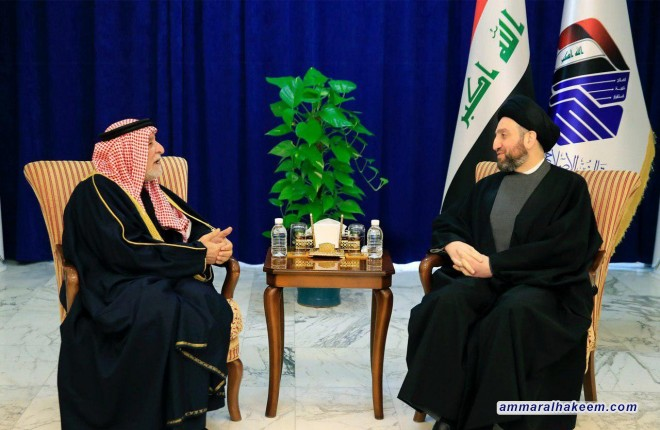 السيد عمار الحكيم يستقيلرئيس ديوان الوقف السني ويبحث معه مستجدات الوضع والتحديات التي تواجه العراق